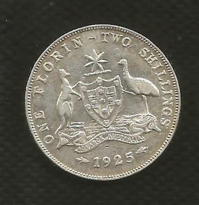 1925 Florin - *george V* - Full Centre Diamond - Very Fine Condition