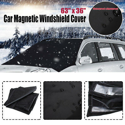 NEW Magnetic Car Windscreen Cover Ice Frost Shield Dust Snow Protector Sun Shade