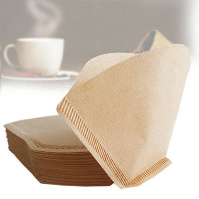 100X Coffe Cup Coffee Filter Paper Hand-poured Paper Filter Filte Wood Paper