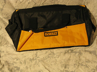 New Extra Large 18 Inch Dewalt Heavy Duty Wide Mouth Tool Bag With 7 Pockets
