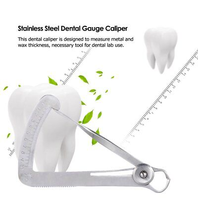 Dental Teeth Caliper Wax Type Crown Diamond Gauge Orthodontic Scale Dentist Tool