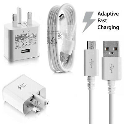 Genuine Fast Charger Plug with Cable For Samsung Galaxy S7 Edge S6 S5 Note 4 5