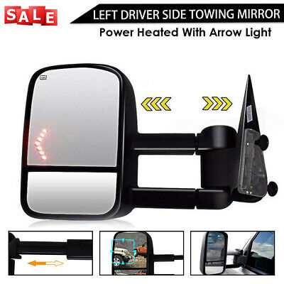 Left Towing Mirror For 2003-2007 Silverado Sierra Power Heated With Arrow Light