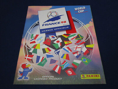 Panini WM WC WK 1998 France 98,Leeralbum/empty album, Turkey Türkei version MINT