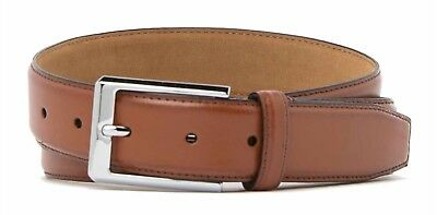 Cole Haan Men's Belt Leather Feathered Edge  Belt In Cognac New W/Tags