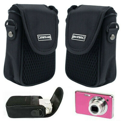 Outdoor Black Soft Compact Digital Camera Pouch Style Case Cover Portable Bag