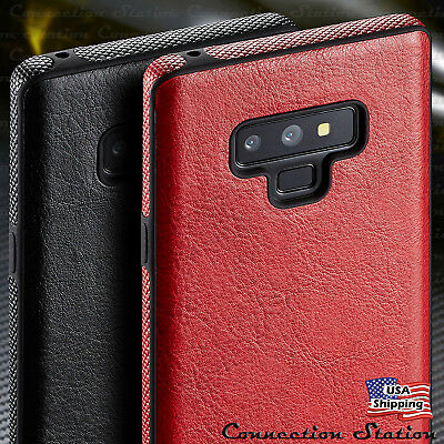 SLIM Luxury Leather Back Ultra Thin TPU Case Cover For Samsung Galaxy Note 9/8