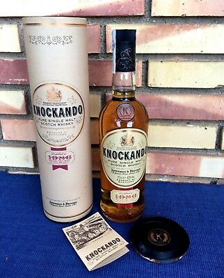KNOCKANDO 1986 Puro Single Malt Scotch Whisky Vintage embotellado 1998