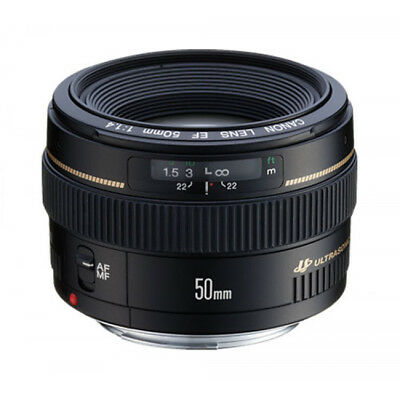 Genuine Canon EF 50mm f/1.4 USM Camera Lens New Boxed by Authorised UK Supplier