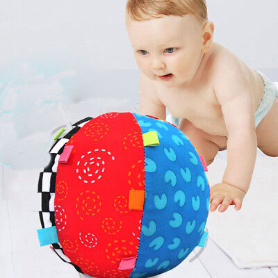 Colorful Bell Kids Children Toys Baby Hand Grasp Ball Cloth Music Sense Learning