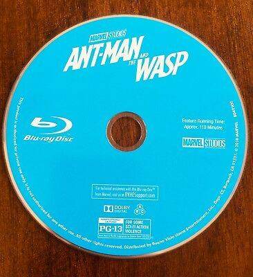 Ant-Man And The Wasp Blu-Ray Disk FREE SHIPPING
