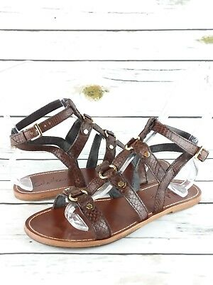 ae0c3857439 Cole Haan Gladiator Sandals Women s Size 9 M Brown Snake Print Ankle Strap  Shoes