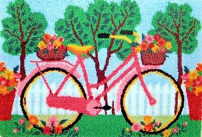 "Craftways  Latch Hook  Rug Kit   ""a Bicycle"""