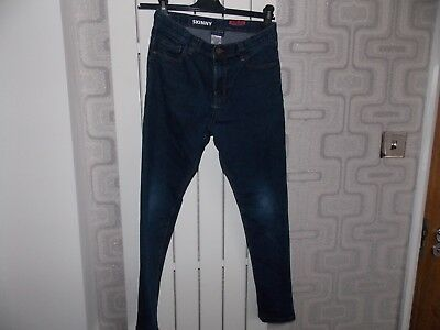 Next Boys Age 10 Years Skinny Jeans Dark Blue Adjustable Waist