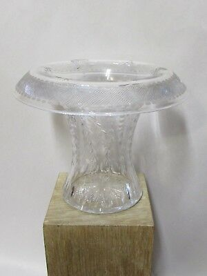 Antique Cut Crystal Glass Vase Art Nouveau Form