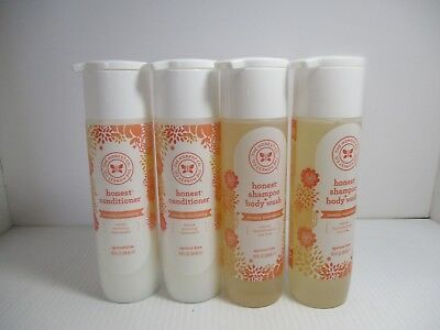 4 The Honest Co Shampoo+Body Wash Conditioner Apricot Kiss 10 Oz Each Jl 2476