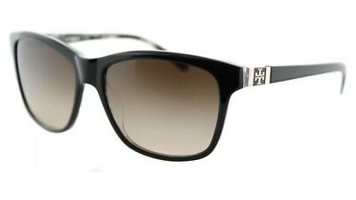 ee8f86e8c120 Authentic Tory Burch TY 7031 910 13 Black Tribal Sunglasses Brown Gradient  Lens