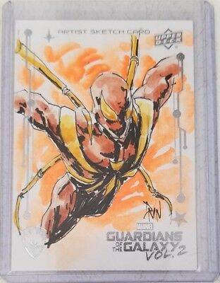 2016 Upper Deck Marvel Guardians of the Galaxy Vol 2 Sketch Card by DM Noceda