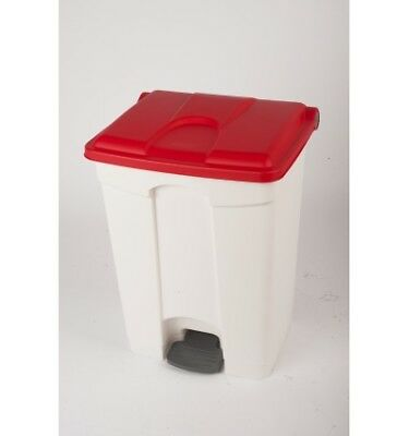 CONTAINER 70L blanc couvercle rouge