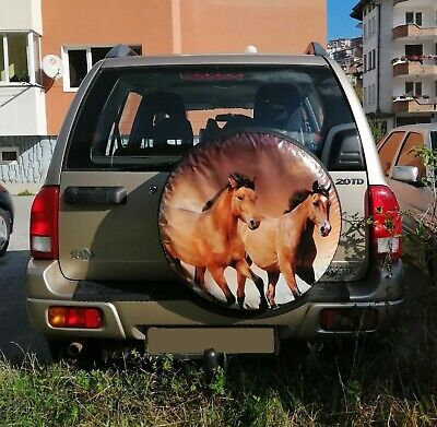 Spare Wheel Cover Hunting Horses Wolf Dog boar  Tyre