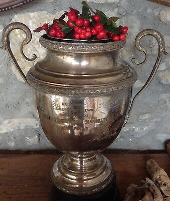 1930's silver plated French sporting trophy, great as Champagne bucket or vase