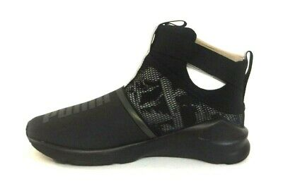 Puma Fierce Strap Swan Sneakers- Black- Womens 189461 01   a29d0a739
