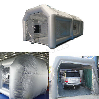 6m/7m/8m/10m Inflatable Paint Spray Booth Car Tent + Air Blower + Repair Kits