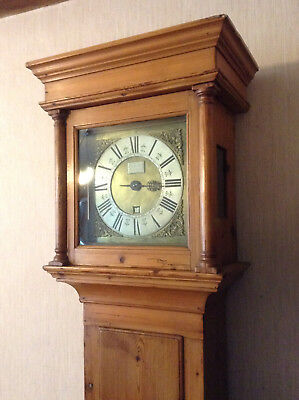 "Miller of LIncoln Early 18th C Longcase Clock, 10"" Brass Dial, Single Hand, 30hr"