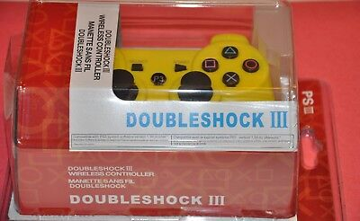 Wireless-Bluetooth-Game-Controller-for-PS3 in Yellow