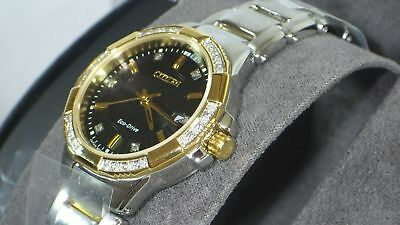Citizen Eco-Drive Women's EW2464-55E Diamond Accent Two-Tone Watch