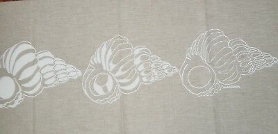Vintage Cottage Chic Marushka Three Sea Shell Silk Screen Art