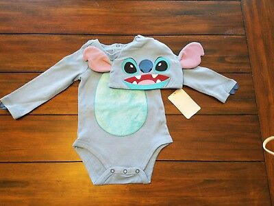 DISNEY Baby LILO & STITCH Baby Boy Costume 2-Pc Bodysuit & Hat 6-9 Month NEW