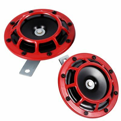 12V 115DB Car Truck Motorcycle Electric Horn Compact Super Tone Loud Blast Red