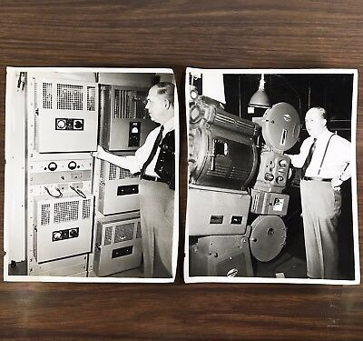 Vintage Photographs of Movie Theatre Projection Booths & Motiograph Equipment