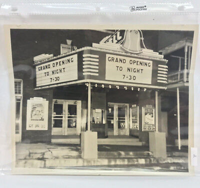 Vintage Bell Movie Theatre Marquee Photograph on Grand Opening