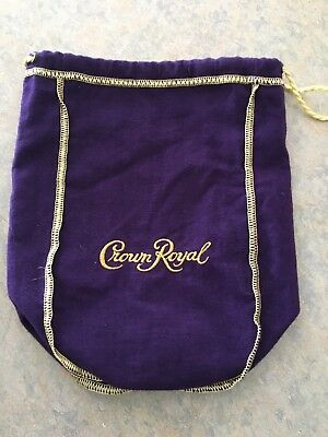 Lot of 10 Purple Crown Royal Bags with Gold Drawstring