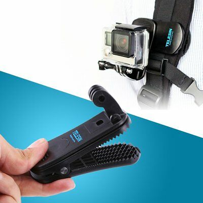 360° Rotary Backpack Belt Clip Clamp Mount for Gopro Hero 6 Yi 4K Action Camera