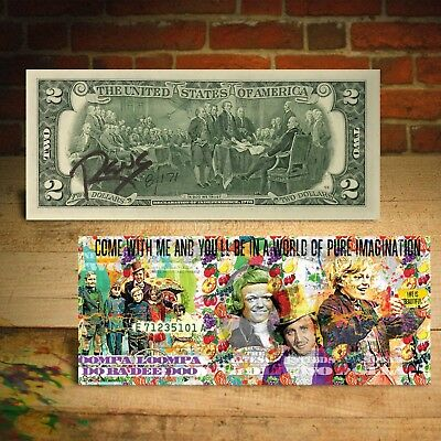 WILLY WONKA $2 US Bill - SIGNED by RENCY - Numbered of 171 - Pure Imagination