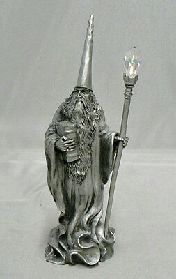 Vintage 1988 Perth Pewter Wizard Book & Stall With Crystal #fa66 Signed Ray Lamb
