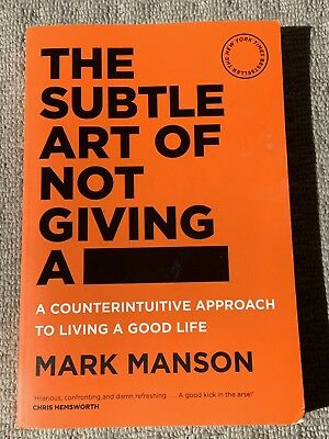 The Subtle Art of Not Giving a F*ck By Mark Manson Paperback
