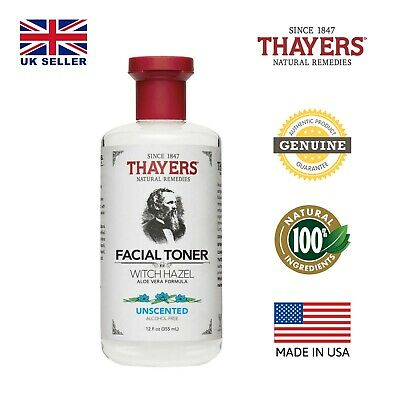 Thayers Alcohol-Free Unscented Witch Hazel Toner with Aloe Vera 12fl oz (355ml)