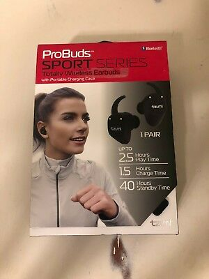 TZUMI PROBUDS SPORTS Series Wireless Earbuds W/portable Charging Case - New