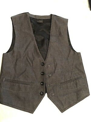 Formal Boys Vest Waistecoat Grey