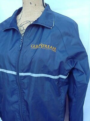 GULFSTREAM PARK RACE TRACK BLUE Zip SMALL JACKET THOROUGHBRED 🐎 HORSE LINED