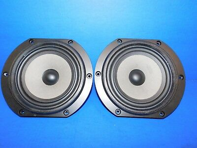 """Vtg Matched Pair B&W BOWERS WILKINS DM110 8"""" Woofers BZ-200"""
