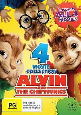 Alvin And The Chipmunks 4 Movie Collection BRAND NEW R4 DVD 1 2 3 4