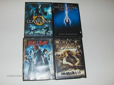 Lot of 4 Movies DVD (The Covenant, Hellbiy, Etc.)