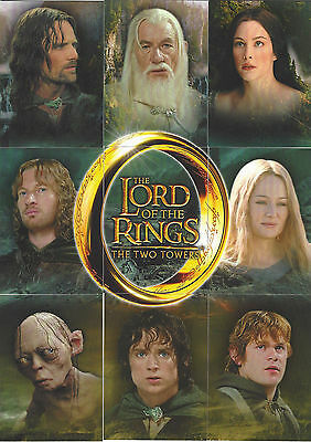 2003 New Line Topps Lord Of The Rings The Two Towers PROMO Card Set C1-C9
