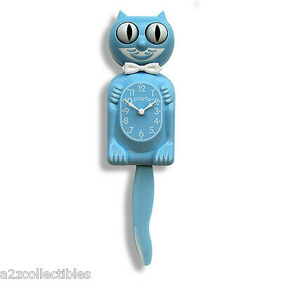 New Kit-Cat Kitty-Cat Klock Limited Edition Baby Blue Color Retro Cat Wall Clock