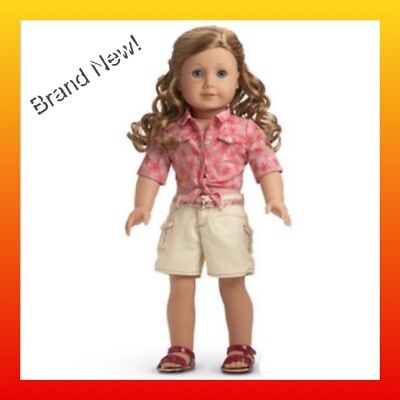 c1a324ec55 American Girl NICKI S TIE TOP AND SHORTS + SANDALS BRAND NEW NIB retired NO  doll